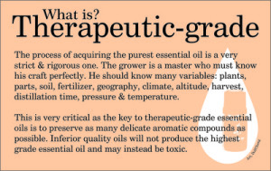 the wise apothecary what is therapeutic grade